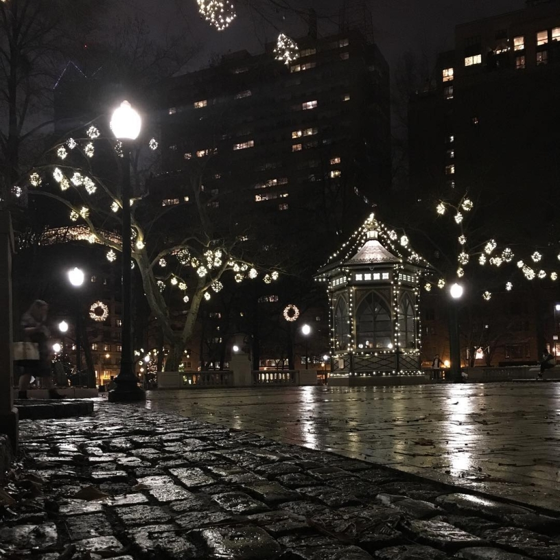 Christmastime in the city.