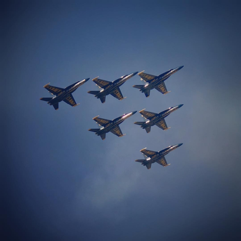 When the Blue Angels fly over incidentally, it's a good day.